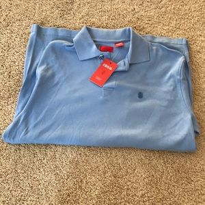 Izod Shirts - NWT! izod Men's medium blue L/S  cotton T shirt